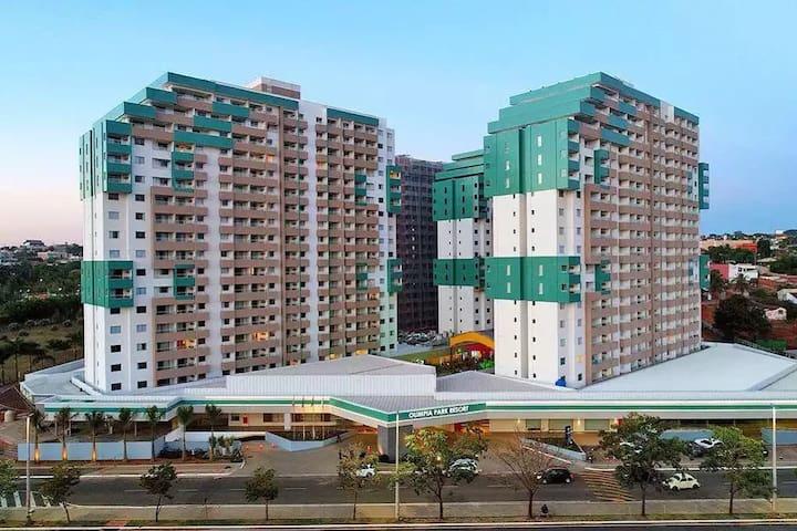 Olímpia Park Resort - Apto. de 02 Dormitórios