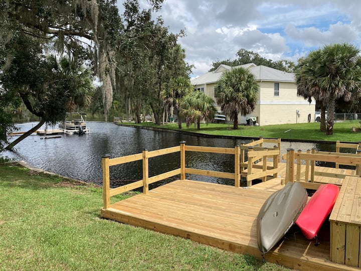 Key West Style River House- New Listing-Waterfront