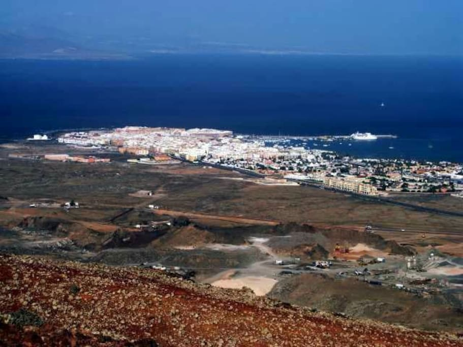 Vistas del pueblo de Corralejo