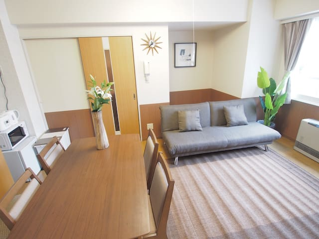 【中文・한글OK!】FREE PARKING!ASAHIKAWA LODGE 5min St. - Asahikawa - Apartment