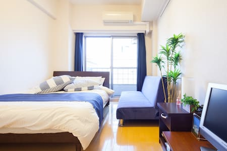 ☆4 mins to Asakusa station!!Double bed room+m-WiFi - Taitō-ku