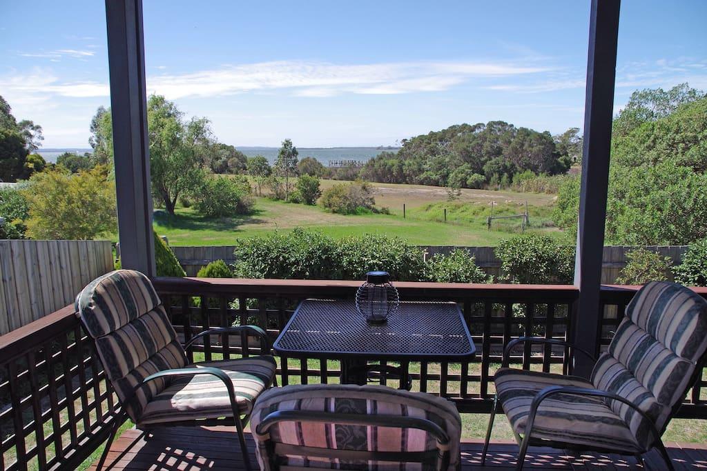Back verandah overlooking the lake