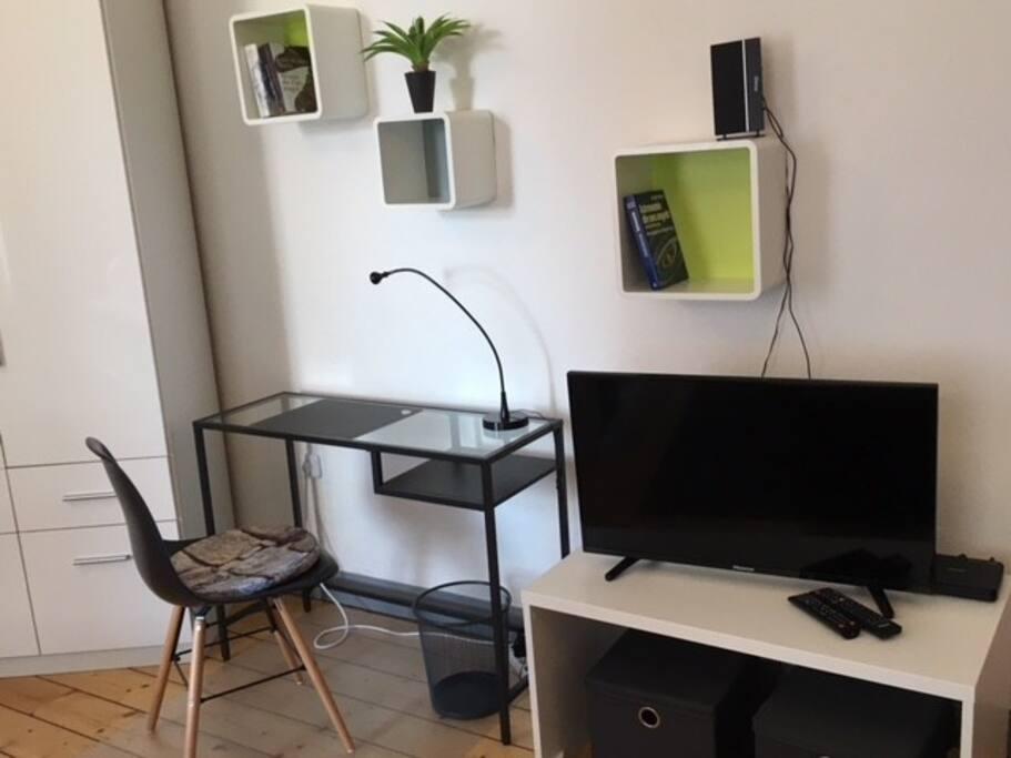 Apartment 1 Wohn-/Schlafzimmer