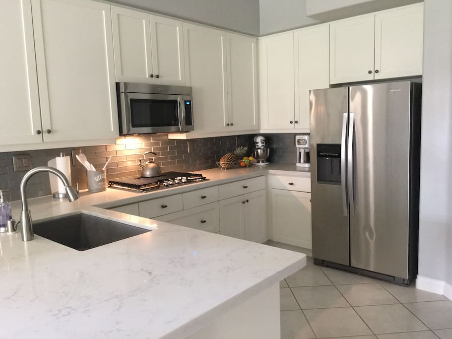 Brand-new Kitchen - All new countertops, appliances, sink, backsplash