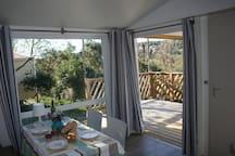 living room with spacious veranda