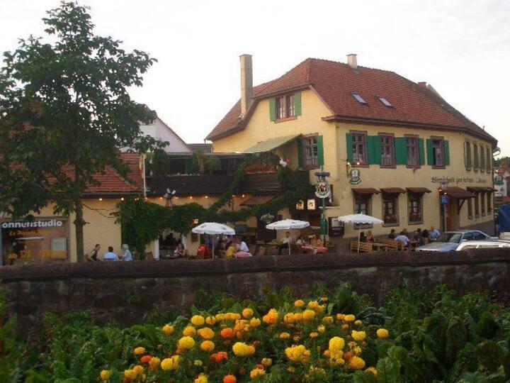 Gasthaus Alte Brauerei, (Ettenheim), Einzelzimmer mit Dusche und WC
