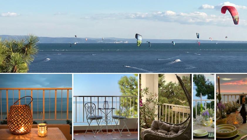 Grandi terrazze fronte spiaggia - Grado Pineta - Appartement