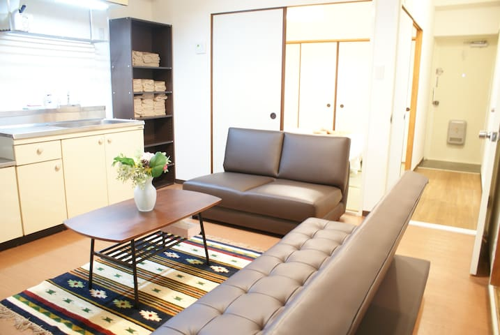 Big Room 14ppl STAY★3mins to Namba Sta+Free WIFI - Naniwa-ku, Ōsaka-shi - Huoneisto