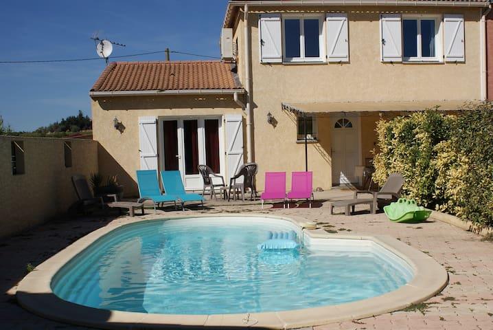 villa romarin  climatisée piscine privée - Abeilhan - House
