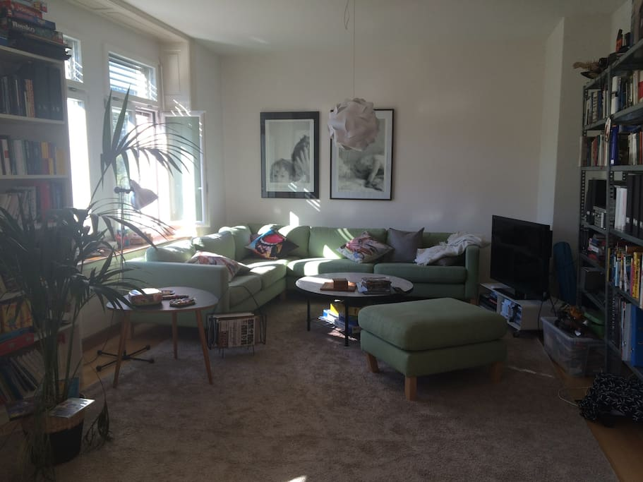 living room area by day