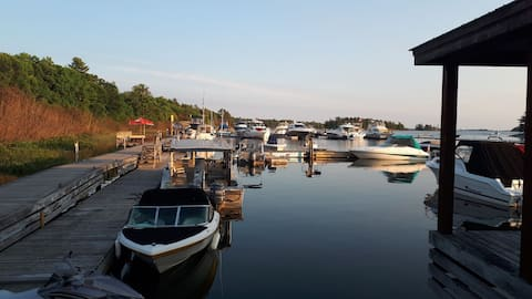 Private Georgian Bay Waterfront with Marina View
