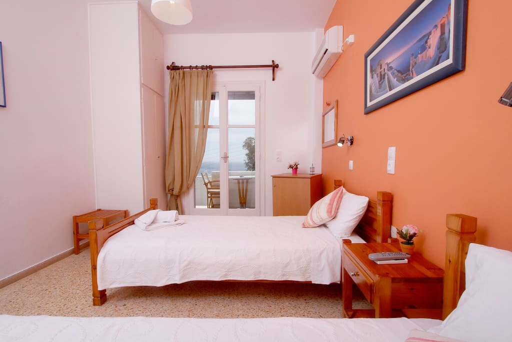 Room with private balcony and Sea View