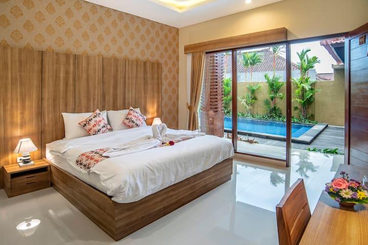 Twin Guest House Canggu, dengan pemandangan indah