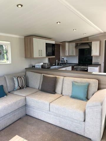 Beautiful caravan set in the foothills of Snowdon