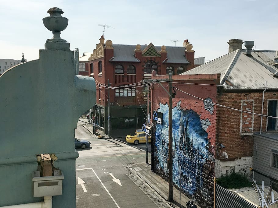 View to Brunswick Street from balcony.