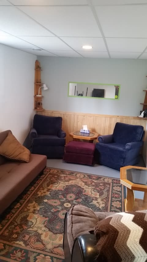 1 bedroom  basement suite  on small hobby farm