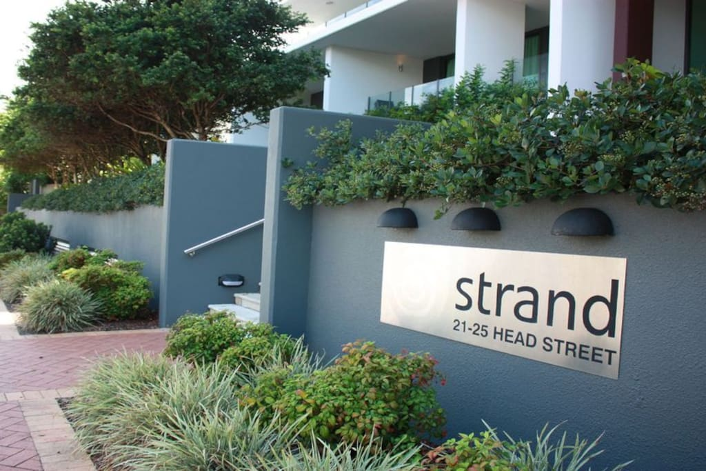 Entry into The Strand Apartments