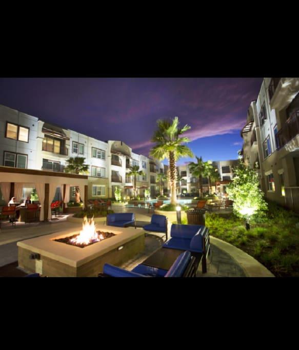 Courtyard night view