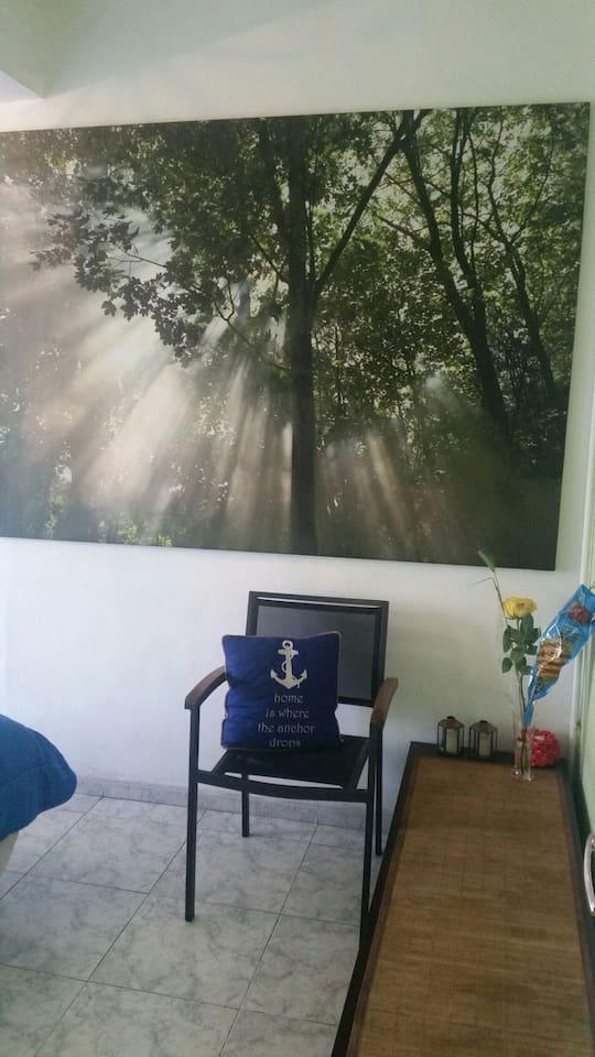 el cuadro de la habitacion