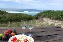 Table with perfect beach views