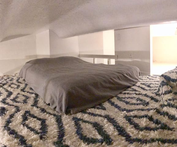 Loft with full bed (where guest will sleep)