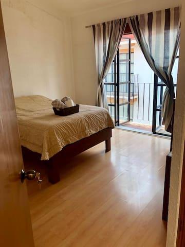 Master bedroom near Coyoacán subway.
