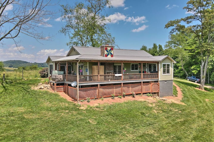 NEW! Charming Galax Retreat w/ Wraparound Deck!