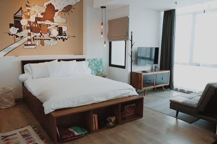 Designer Apartment in Central Jakarta *FREE WIFI*