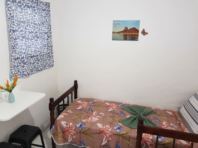 7-Cozy Twin Room Botafogo, Copacabana beach