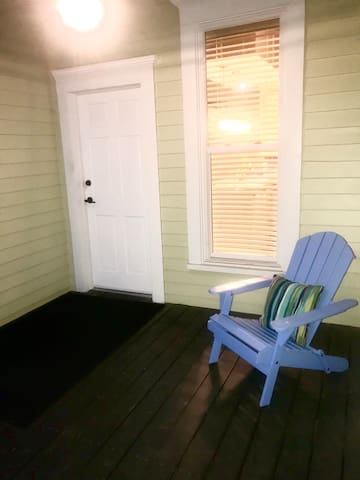 The back porch is completely private and offers a space for relaxation and meditation!