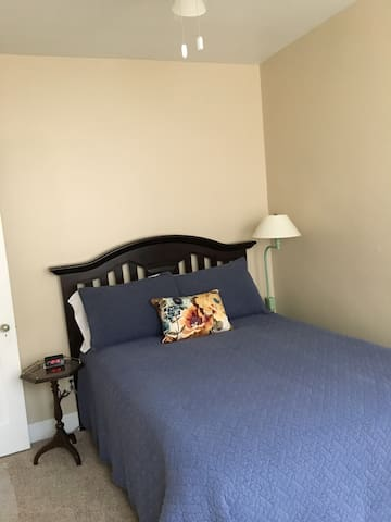 Smallest of the two bedrooms contains a full size, pillow-top  bed.  If needed, a comfy twin size cot and linens can be provided.