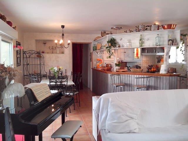 Maison agréable et calme, 2 chambres tout confort - Prigonrieux - Dům