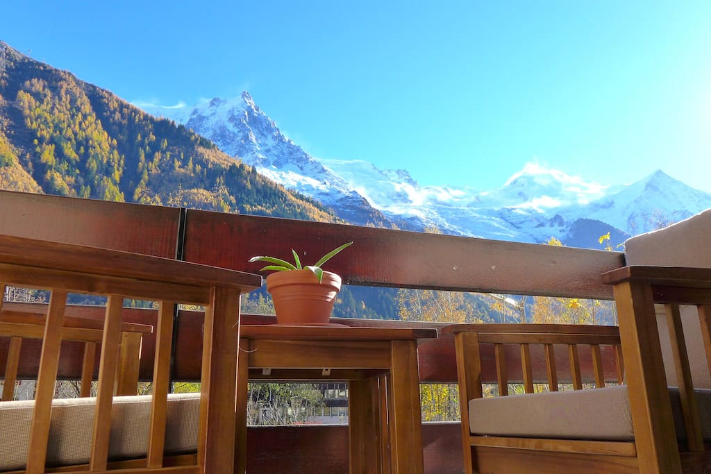 Mont Blanc Views in the morning sun balcony from bedrooms