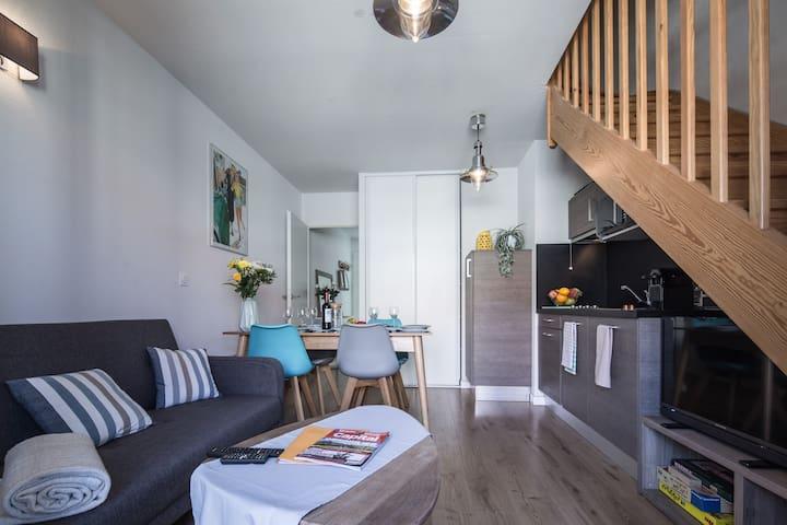 Ravissant appartement tout confort 1ère ligne mer