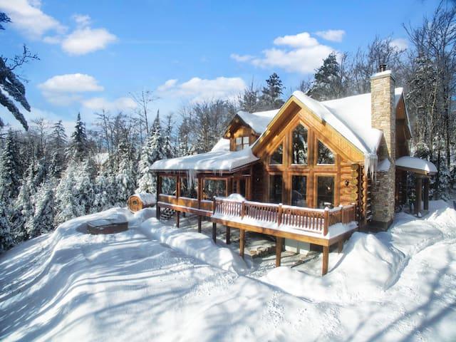 Cottage for Rent at Fiddler Lake - Blue Moose | Chalet Spa Nature