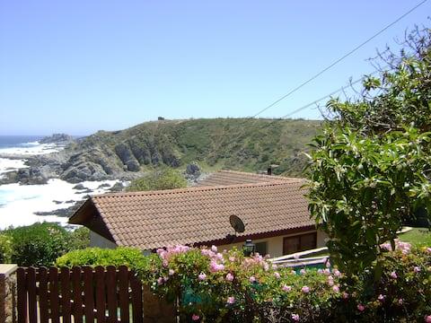 Oceanfront house 1st line Punta de Tralca