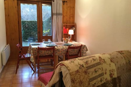 Cosy apartment with small garden - Servoz
