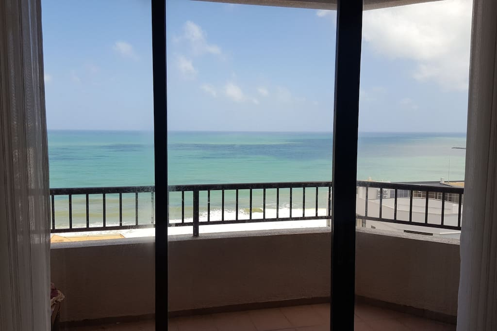 View of the Indian Ocean through the Living room