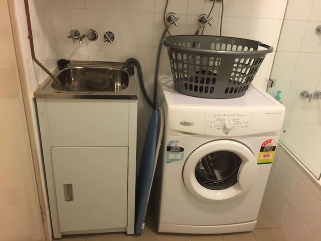 Washer, dryer, iron