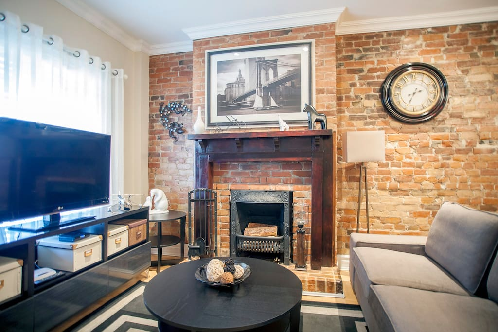 Open Concept Living Room w/1895 Fireplace (non Working)
