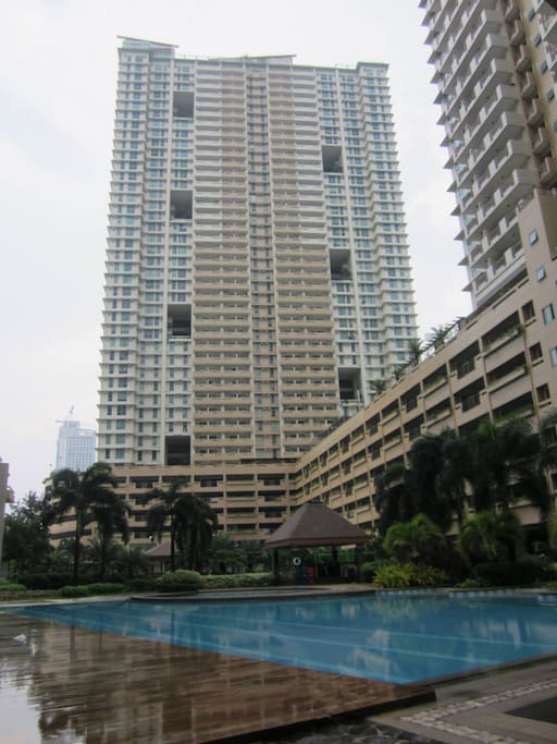 IRIS Bldg is at the back of the swimming pool
