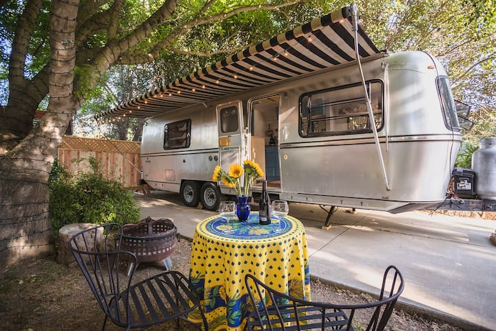Santa Barbara wine country vintage trailer