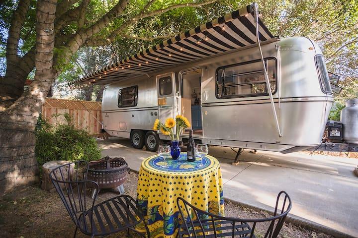 Santa Barbara wine country vintage trailer