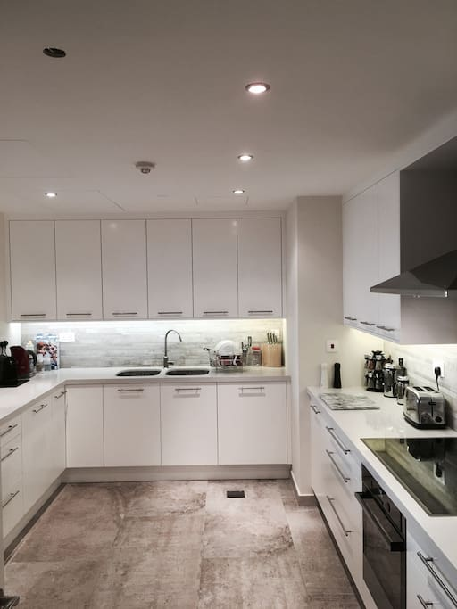 All newly designed Kitchen,  Nespresso machine along with a well equipped Kitchen.