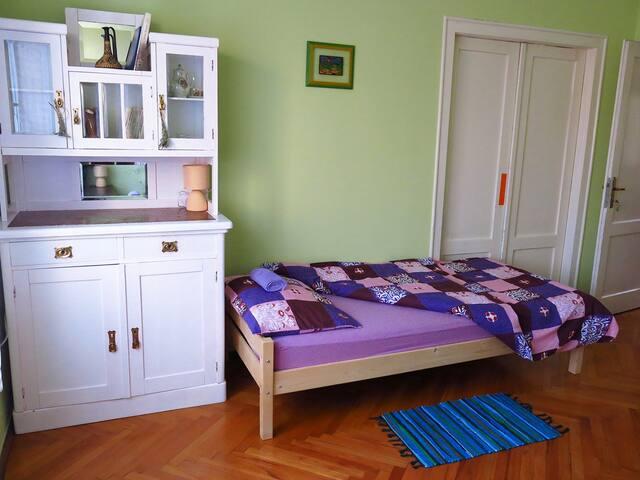 Green room vintage cupboard