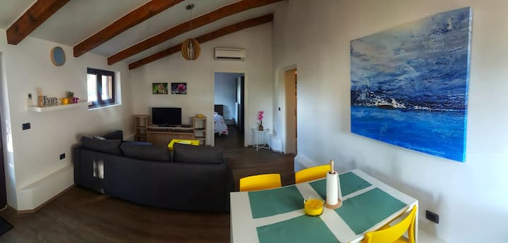 Apartment with bedroom and a sofa for 4 persons