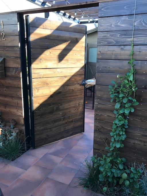 This is the entrance to the patio space.