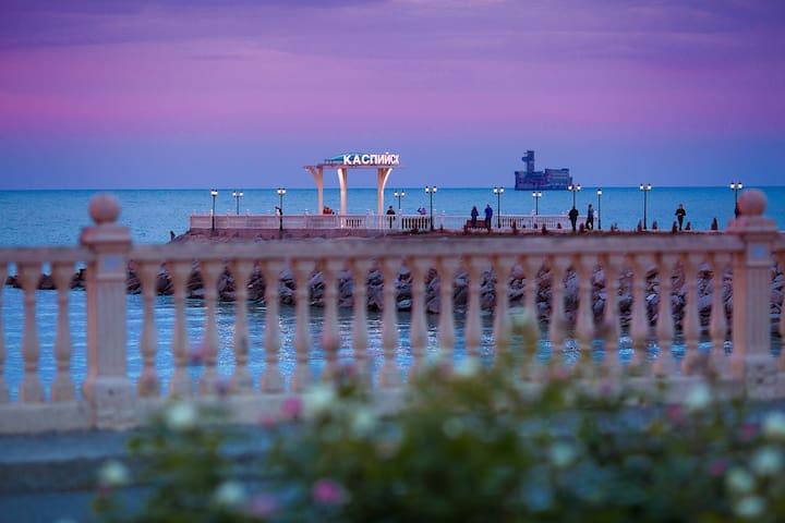 Caspian sea is in 15 minutes walk