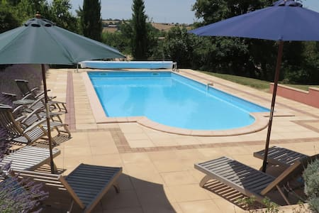 Luxury Farmhouse with private pool - Puylaurens