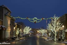 Beautiful historic downtown Crystal Lake during the Christmas season.